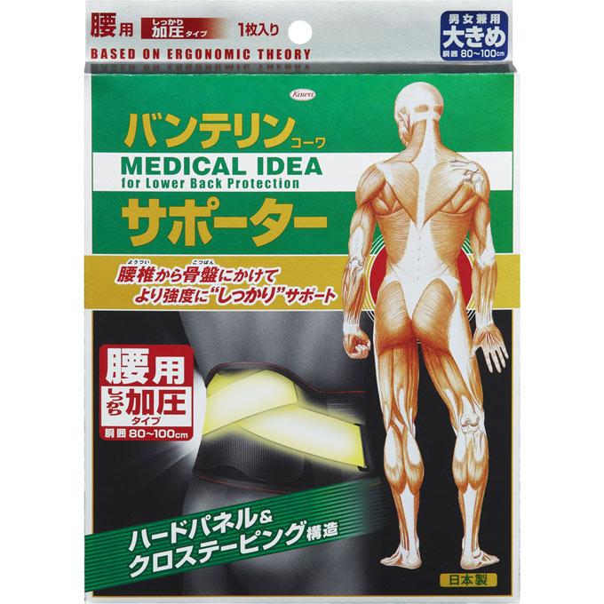 興和新薬バンテリンコーワサポーター腰用しっかり加圧タイプ (男女兼用)<大きめサイズ・1枚>【旧パッケージ】