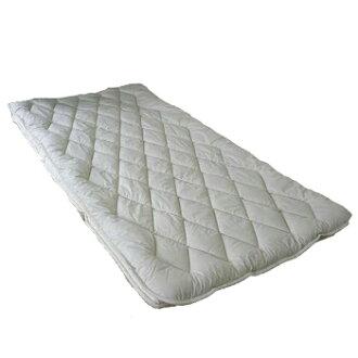세탁기로 통째로 빠는 일 OK!프랑스 울(세정 양모) 100%침대 패드 와이드 더블(154×200 cm)