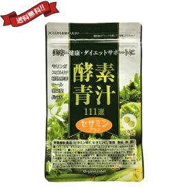 【ポイント5倍】最大25.5倍!オーガニックレーベル 酵素青汁111選セサミンプラス 60粒