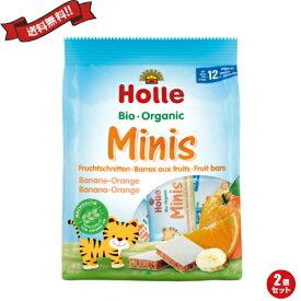 離乳食 ベビーフード オーガニック ホレ Holle 有機ミニウエハース バナナ&オレンジ 2個セット
