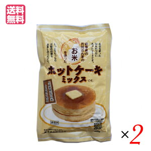 ホットケーキミックス 米粉 無添加 お米のホットケーキミックス 200g 2袋セット 桜井食品 送料無料