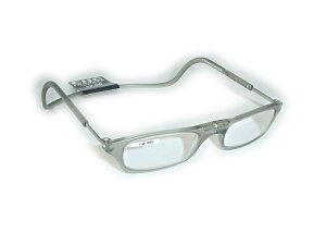 既成 老眼鏡+2.50クリックリーダーClic readers グレー+2.50送料無料(沖縄・離島1000円 北海道500円)