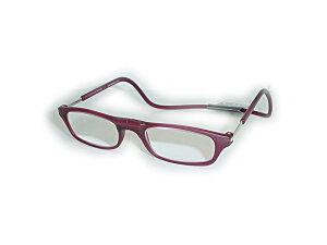 既成 老眼鏡+2.00クリックリーダーClic readers ワインカラー+2.00送料無料(沖縄・離島1000円 北海道500円)