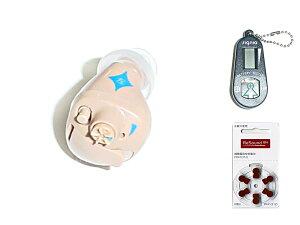 〜 左耳用☆軽中度難聴用 〜イヤファッション(NEF-07)デジタル補聴器☆電池1パック(6個入) バッテリーチェッカー付☆
