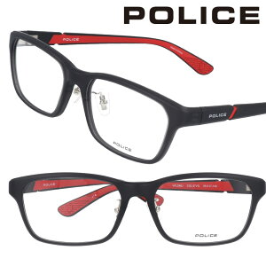 POLICE ポリス vpld88j-07vg マットブラック レッド 眼鏡 メガネ 知的 ビジネス 都会的 プラスチック メガネフレーム メンズ レディース 男性用 女性用 イタリア アイウェア モード プレゼント 贈