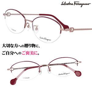Salvatore Ferragamo サルヴァトーレ フェラガモ sf2537a 692 ワインレッド ピンクゴールド 赤 眼鏡 メガネ おしゃれ ブランド眼鏡 ブランド メガネフレーム レディース 女性用 プレゼントに最適 ギフ