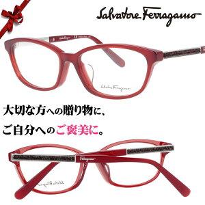 Salvatore Ferragamo sf2808ra-634 レッド 赤 54□15 ブランド眼鏡 ブランド 眼鏡 女性 プレゼントに最適 フェラガモ メガネフレーム ガンチョ ガンチーニ ヴァラ バラ