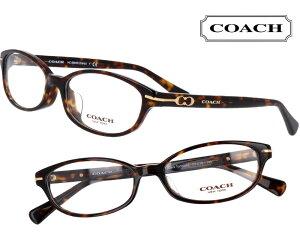 COACH コーチ hc6064d-5001 ブラウンデミ 茶 こげ茶 おしゃれ ロゴ ブランド眼鏡 ブランド 眼鏡 男性 女性 レディース プレゼントに最適 メガネフレーム