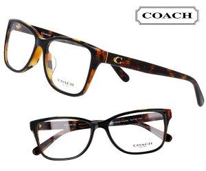 COACH コーチ hc6129f-5446 ブラウンデミ 茶 こげ茶 おしゃれ ロゴ ブランド眼鏡 ブランド 眼鏡 男性 女性 レディース プレゼントに最適 メガネフレーム