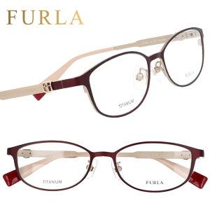 FURLA フルラ vfu406j i88m マットボルドー 赤 眼鏡 メガネ メガネフレーム おしゃれ 可愛い かわいい チタン レディース 女性用 ギフト プレゼント ロゴ