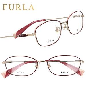 FURLA フルラ vfu420j 0i88 ワイン ホワイトゴールド 赤 金 眼鏡 メガネ メガネフレーム おしゃれ 可愛い かわいい チタン レディース 女性用 ギフト プレゼント ロゴ