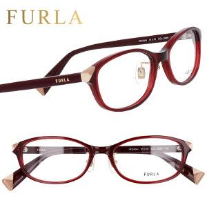 FURLA フルラ vfu424j 099n クリアーボルドー 赤 眼鏡 メガネ メガネフレーム おしゃれ 可愛い かわいい プラスチック レディース 女性用 ギフト プレゼント ロゴ