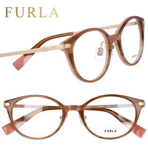 FURLA フルラ vfu492j 06uh ウェービーブラウン 茶 眼鏡 メガネ メガネフレーム おしゃれ 可愛い かわいい プラスチック レディース 女性用 ギフト プレゼント ロゴ