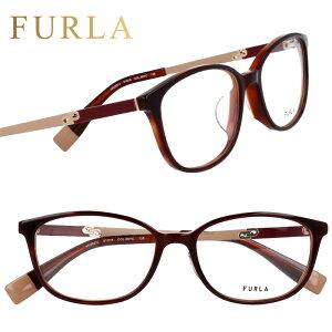 FURLA フルラ vfu527j 09yc ボルドー 眼鏡 メガネ メガネフレーム おしゃれ 可愛い かわいい 上品 プラスチック レディース 女性用 ギフト プレゼント ロゴ 送料無料