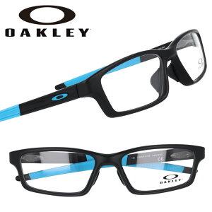 OAKLEY オークリー ox8118 0156 CROSSLINK クロスリンク サテンブラック ブルー 黒 青 眼鏡 メガネ フレーム オーマター メンズ 男性用 スポーツ オフィス モダン 伊達メガネ oakley