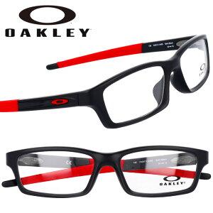 OAKLEY オークリー ox8111 0453 CROSSLINK クロスリンク サテンブラック レッド 黒 赤 眼鏡 メガネ フレーム オーマター メンズ 男性用 スポーツ シック シンプル