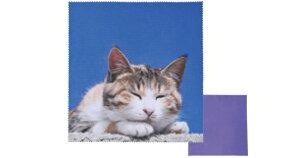 飛び猫 トビネコメガネフキ 3222-05 キジトラネコ 眼鏡拭き めがね拭き メガネ拭き おすすめ メガネクロス かわいい クリーニングクロス スマホ 液晶拭き プレゼント ギフト