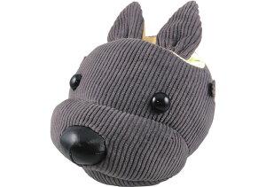 サカエ I-12 アニマルフェイススタンド コーデュロイ GR グレー 犬 眼鏡スタンド 動物 かわいい メガネスタンド めがねスタンド メガネスタンド かわいい メガネスタンド おしゃれ メガネスタ
