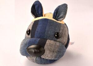 遠州綿紬 フェイススタンド I-10 紺色 ネイビー 眼鏡スタンド 犬 かわいい 動物 メガネスタンド めがねスタンド メガネスタンド かわいい メガネスタンド おしゃれ メガネスタンド おもしろ