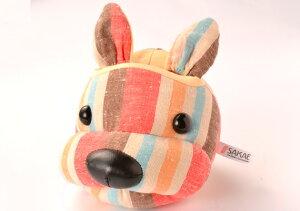 遠州綿紬 フェイススタンド I-10 オレンジ 犬 眼鏡スタンド 動物 かわいい メガネスタンド めがねスタンド メガネスタンド かわいい メガネスタンド おしゃれ メガネスタンド おもしろ