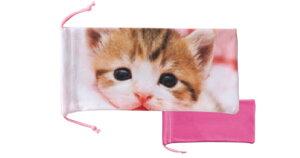 飛び猫 トビネコ ソフトケース 2622-01 コネコ メガネケース 猫 ねこ ネコ おしゃれ 眼鏡ケース レディース メンズ 女性 男性 子供 プレゼント ギフト めがねケース シンプル