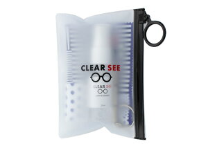 クリアシー メンテナンスキット 3175 メガネクリーナー ふきふき 眼鏡クリーナー めがねクリーナー スプレーアルコール成分により油汚れもスッキリきれい! 除菌効果もあります。