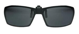 グリーングラス GR2-003 ブラック/グレー メガネの上からサングラス クリップ式 サングラス クリップオン メガネ サングラス 挟む 取り付け メガネの上から装着 紫外線カット 簡単