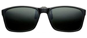 グリーングラス GR-016C ブラック/グリーン メガネの上からサングラス クリップ式 サングラス クリップオン メガネ サングラス 挟む 取り付け メガネの上から装着 紫外線カット 簡単