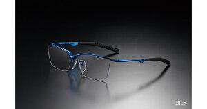 G-SQUARE ジースクエア ゲーミンググラス カジュアル グレー 度無し ナイロール ブルー PCメガネ ブルーライトカット pcめがね pc眼鏡 伊達メガネ 紫外線カット 青色光カット パソコンメガネ ス