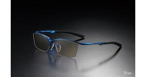 G-SQUARE ジースクエア ゲーミンググラス カジュアル ブラウン 度無し ナイロール ブルー PCメガネ ブルーライトカット pcめがね pc眼鏡 伊達メガネ 紫外線カット 青色光カット パソコンメガネ