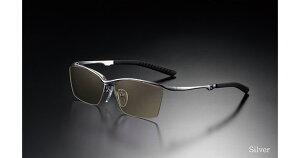 G-SQUARE ジースクエア ゲーミンググラス カジュアル ブラウン 度無し ナイロール シルバー PCメガネ ブルーライトカット pcめがね pc眼鏡 伊達メガネ 紫外線カット 青色光カット パソコンメガ
