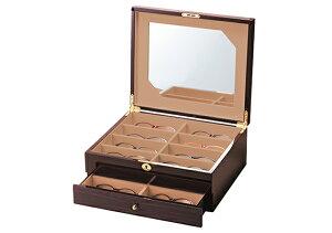 高級コレクションケース 2段 16本収納 BOX メガネケース おしゃれ かわいい 眼鏡ケース レディース メンズ 女性 男性 子供 プレゼント ギフト めがねケース シンプル キャラクター 誕生日 お祝