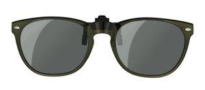 グリーングラス gr-008c カーキ メガネの上からサングラス クリップ式 サングラス クリップオン メガネ サングラス 挟む 取り付け メガネの上から装着 紫外線カット 簡単