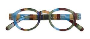 HAL ブルーライトカット PCメガネ 青色光カット CIRCLE TWIST JUNGLE +1.00 老眼鏡 おしゃれ メンズ レディース コンパクト スリム 携帯用 かっこいい かわいい 折り畳み シニアグラス