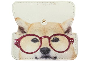 CLM-14D カルモ スリムメガネケース アニマルD シバ メガネケース おしゃれ 眼鏡ケース レディース メンズ 女性 男性 プレゼント ギフト めがねケース シンプル 柴犬 犬 動物