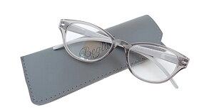 ビグラッド BGT-1013 GY +2.50 老眼鏡 おしゃれ メンズ レディース コンパクト スリム 携帯用 かっこいい かわいい 折り畳み シニアグラス