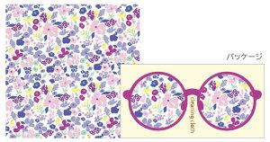 シエルクリーニングクロス CC-069 コバナパープル 眼鏡拭き めがね拭き メガネ拭き おすすめ メガネクロス かわいい クリーニングクロス スマホ 液晶拭き プレゼント ギフト