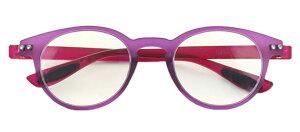 カラフルック 5353 +3.50 パープルブルーライトカット 老眼鏡 おしゃれ メンズ レディース コンパクト スリム 携帯用 かっこいい かわいい 折り畳み シニアグラス