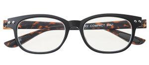 カラフルック 5561 +0.50 ブラック/ デミブルーライトカット スマホ用 PCアシストグラス おしゃれ メンズ レディース コンパクト スリム 携帯用 かっこいい かわいい 折り畳み シニアグラス