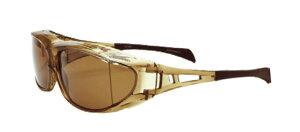 エレッセオーバーグラス ES-OS01-2 GR/BR 偏光 へんこう polarized 眼鏡の上から メガネの上から サングラス オーバーグラス 釣り 度付き不可 UVカット メンズ レディース 男女兼用