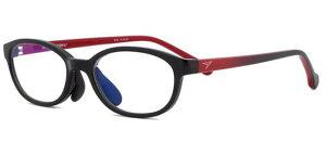 瞬足 PCメガネ pcグラス sy-9001-2 ブラック/レッドPCメガネ ブルーライトカット pcめがね pc眼鏡 伊達メガネ 紫外線カット 青色光カット パソコンメガネ スマホ