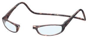 クリックユーロ +3.00 ブラウン ClicEuro シニアグラス リーディンググラス 老眼鏡 クリックリーダー 読書用 おしゃれ メンズ 男性 レディース 女性 首にかける 首掛け 携帯用