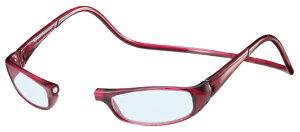 クリックユーロ +2.50 ボルドー ClicEuro シニアグラス リーディンググラス 老眼鏡 クリックリーダー 読書用 おしゃれ メンズ 男性 レディース 女性 首にかける 首掛け 携帯用