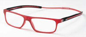 クリックチューブ Mレッド (TMR) +3.50CLIC TUBE シニアグラス リーディンググラス 老眼鏡 クリックリーダー 読書用 おしゃれ メンズ 男性 レディース 女性 コンパクト 首にかける 首掛け 携帯用