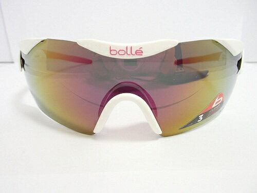 【ポイント10倍!!】bolle(ボレー)  サングラス 12057 6thSENSE-S ShinyWhite ミラー  限定品 ジロ・デ・イタリアモデル UV bolle ボレー メンズ レディース 紫外線カット ロードバイク サイクリング アスリート