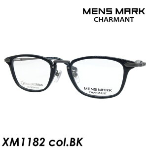 MENS MARK(メンズマーク) メガネ XM1182 col.BK[ブラック] 50mm 日本製
