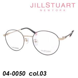 JILL STUART(ジルスチュアート) 子供用メガネ 04-0050 col.03 グレー/ゴールド 46mm TITANIUM キッズ