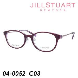 JILL STUART ジルスチュアート 子供用メガネ 04-0052 col.03 ワイン/ピンク 47mm TITANIUM キッズ