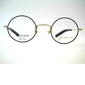 日本製 ジョンレノン小さめ丸メガネ 半掛けストレートテンプルメガネフレーム JL-A103