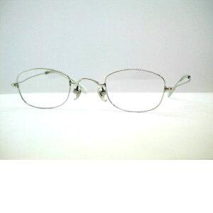 日本製錆びにくいサンプラチナ小さいスクエアメガネフレーム [強度近視メガネ] 小さめメガネ・ファブリックSP7-4545